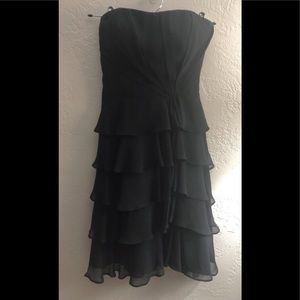 White House Black Market Strapless Black Dress